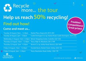 "NWLDC ""Recycle More"" Roadshow is coming to Kegworth!"