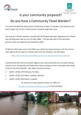 Opportunity to become a Volunteer Flood Warden